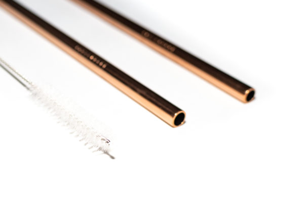 Rose Gold Stainless Steel Eco-Friendly Straw