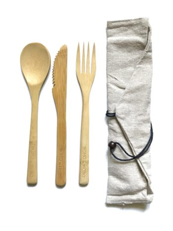 Travel Bamboo Cutlery Set