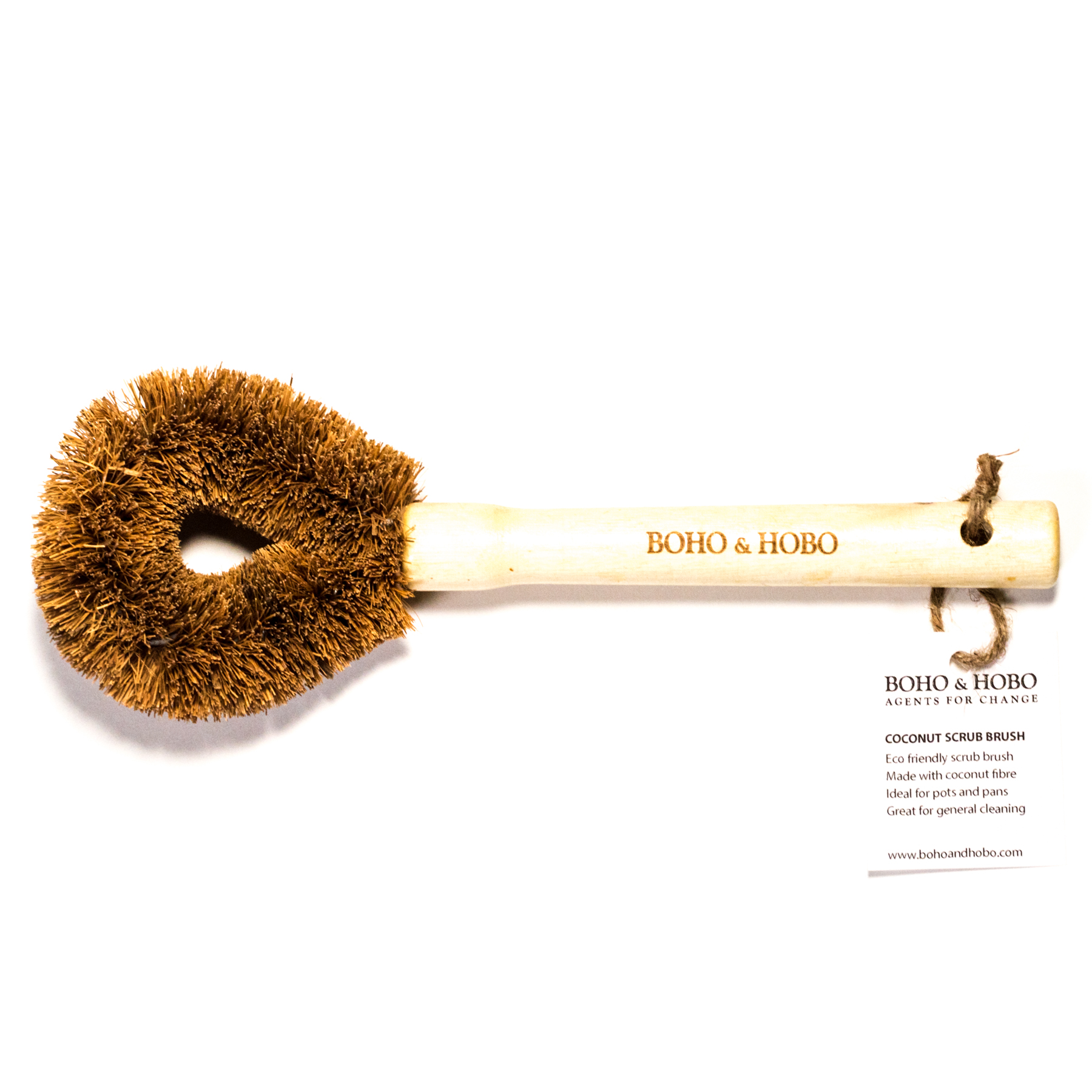 Eco-Friendly Kitchen Bamboo Scrub Brush