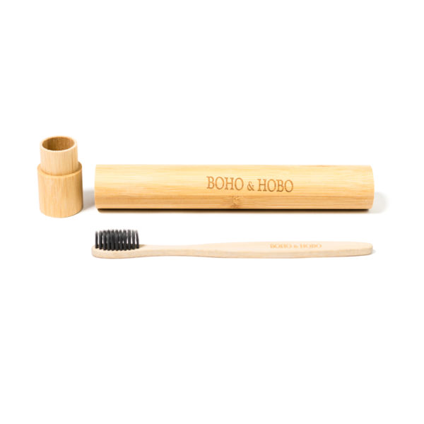 Bamboo Charcoal Infused Toothbrush and Case